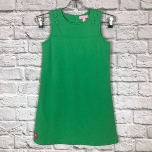Lilly Pulitzer Girls 7 Shift Dress Bright Green